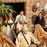 Bride and Groom enter their wedding reception
