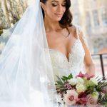 Bride's flowing veil by Tanya Didenko